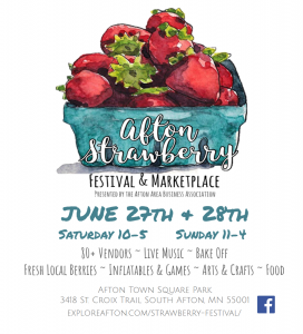 CANCELLED: Afton Strawberry Festival & Marketplace
