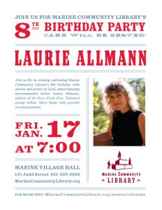 Marine Library 8th Birthday Party with author Laur...