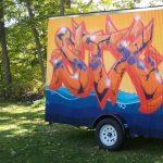 Mobile Art Gallery exhibition: Mending