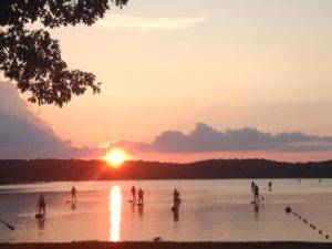 Sunset Stand Up Paddleboarding