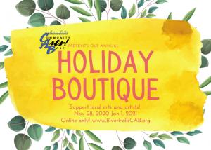 Community Arts! Base Holiday Boutique: Virtual 202...